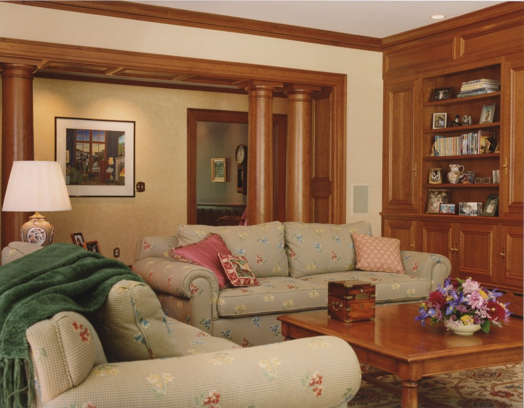 Major renovation involving architectural features and layout work. Custom furniture and custom window treatments.