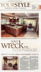 Metrowest Daily News clipping - Interiors by Monique