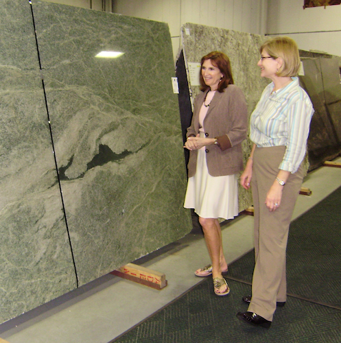 Interiors-by-Monique-choosing-granite-with-a-client