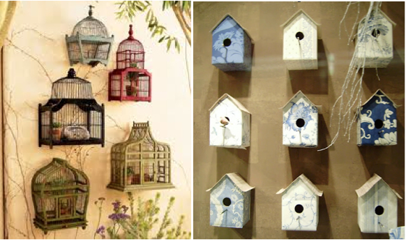 Interiors by Monique Bird cage and bird houses
