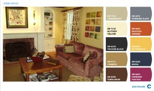 Interiors by Monique-Family Room-Sherwin Williams Chip-It Palette
