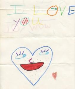 homemade card by Monique's son